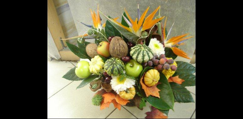 Mobile web composition de fleurs pornichet la baule st nazaire - Composition florale avec fruits legumes ...