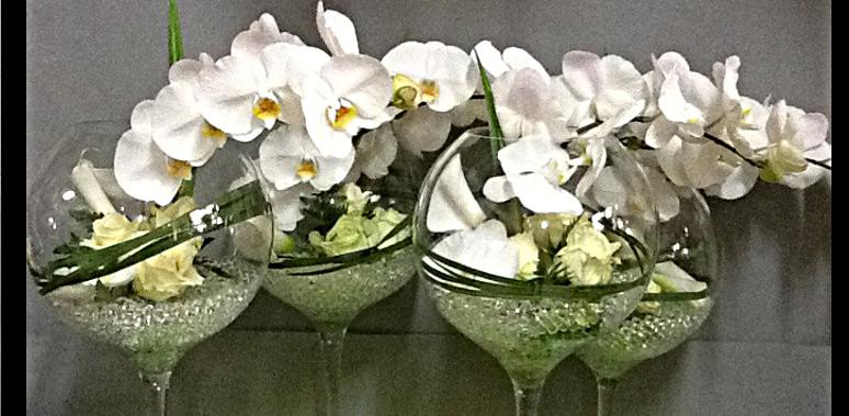 Deco Fleur Table Mariage La Pilounette