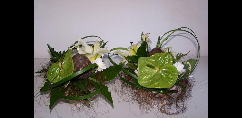 Mobile web page fleuriste mariage pornichet parfum de fleurs for Composition florale de table