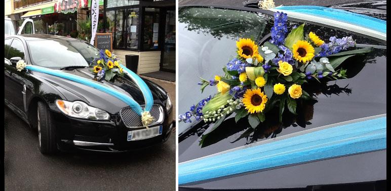 decoration capot voiture mariage cheap tailles que vous placerez sur le capot des ronds fleurs. Black Bedroom Furniture Sets. Home Design Ideas